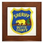 Butte County Sheriff Framed Tile