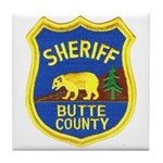 Butte County Sheriff Tile Coaster