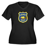 Butte County Sheriff Women's Plus Size V-Neck Dark
