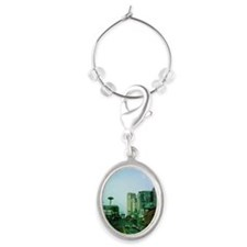 Seattle and Space Needle Oval Wine Charm