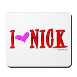 "I ""HEART"" NICK Mousepad"