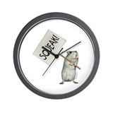 Protesting Gerbil Wall Clock