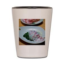 Sea bream sashimi and boiled shrimp Shot Glass