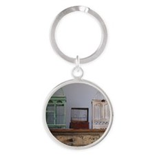 Bird cages Round Keychain