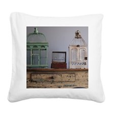 Bird cages Square Canvas Pillow