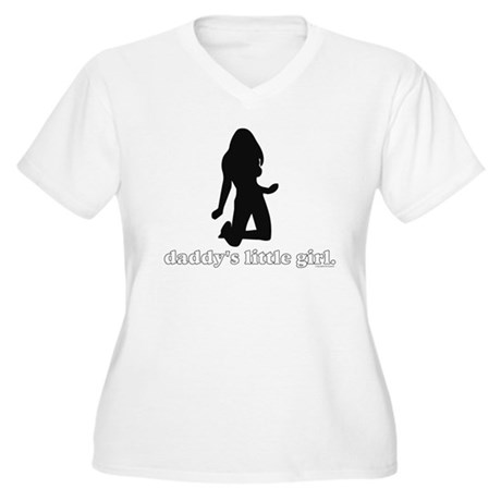 Daddy's Girl Women's Plus Size V-Neck T-Shirt