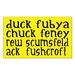 duck fubya chuck feney ack fushcroft