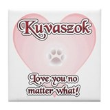 Kuvasz Love U Tile Coaster