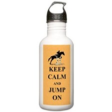 Keep Calm and Jump On  Sports Water Bottle