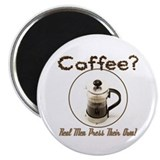 French Press Men 2.25&quot; Magnet (10 pack)