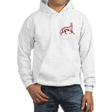 Red Playful Greyhound Hoodie