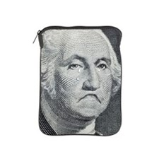 George Washington crying on dollar bil iPad Sleeve