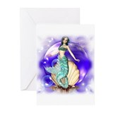 Sparkling Mermaid Greeting Cards (Pk of 10)