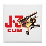 J-3 CUB I Tile Coaster