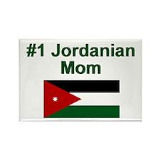 Jordanian #1 Mom Rectangle Magnet