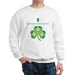Irish Masons Green Beer Instructions Sweatshirt