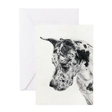 Great Dane Portrait Greeting Cards