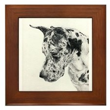 Great Dane Portrait Framed Tile
