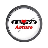 I Love Arturo Wall Clock
