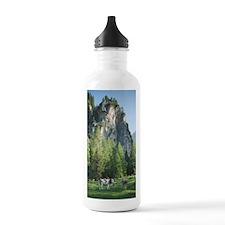 Cow Standing in Alpine Sports Water Bottle