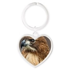 Red tailed hawk Heart Keychain