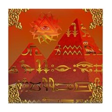 Egyptian Skies (Ornate) Tile Coaster