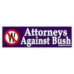 Attorneys Against Bush (bumper sticker)