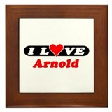 I Love Arnold Framed Tile