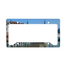 Chapel bridge over river Reus License Plate Holder