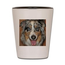 Miniature Aussie dog Shot Glass