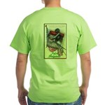 Harp Flag / 69th NY (back) - Green T-Shirt