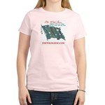 Harp Flag / Fenian (back) - Women's Pink T-Shirt