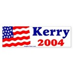 American Flag Kerry 2004 Bumper Sticker