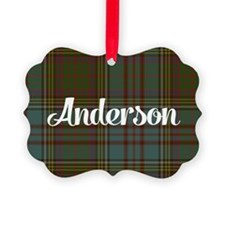 Anderson Tartan Picture Ornament