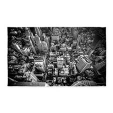 Cityscape, New York City B and W 3'x5' Area Rug