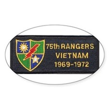 75th Rangers Oval Decal