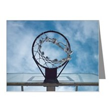 Basketball hoop Note Cards (Pk of 10)