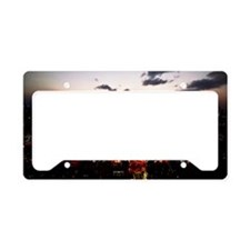 Tokyo skyline by night License Plate Holder