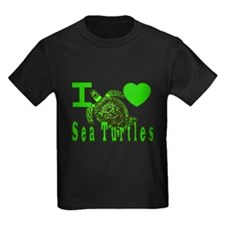 I LOVE ( Heart ) Sea Turtles  T