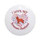 Love Pyrenean Ornament (Round)