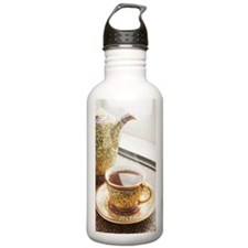 Cup of hot tea. Sports Water Bottle