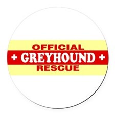 Cute Greyhound rescue Round Car Magnet