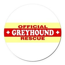 Funny Greyhound rescue Round Car Magnet