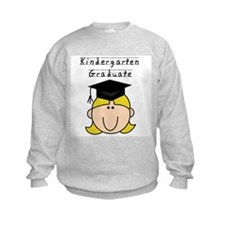 Girl Kindergarten Grad (blond) Sweatshirt