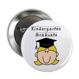 Girl Kindergarten Grad (blond) Button