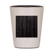 The scorched charred wooden plank Shot Glass