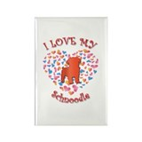 Love Schnoodle Rectangle Magnet (100 pack)