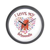 Love Schnoodle Wall Clock