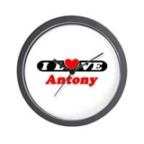 I Love Antony Wall Clock