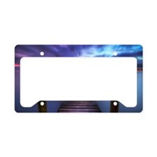 Léman blue hour License Plate Holder